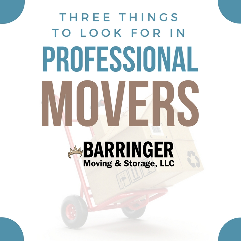 Three Things to Look for In Professional Movers