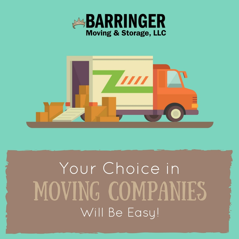 Your Choice in Moving Companies Will Be Easy!