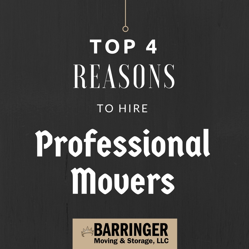 Top 4 Reasons to Hire Professional Movers